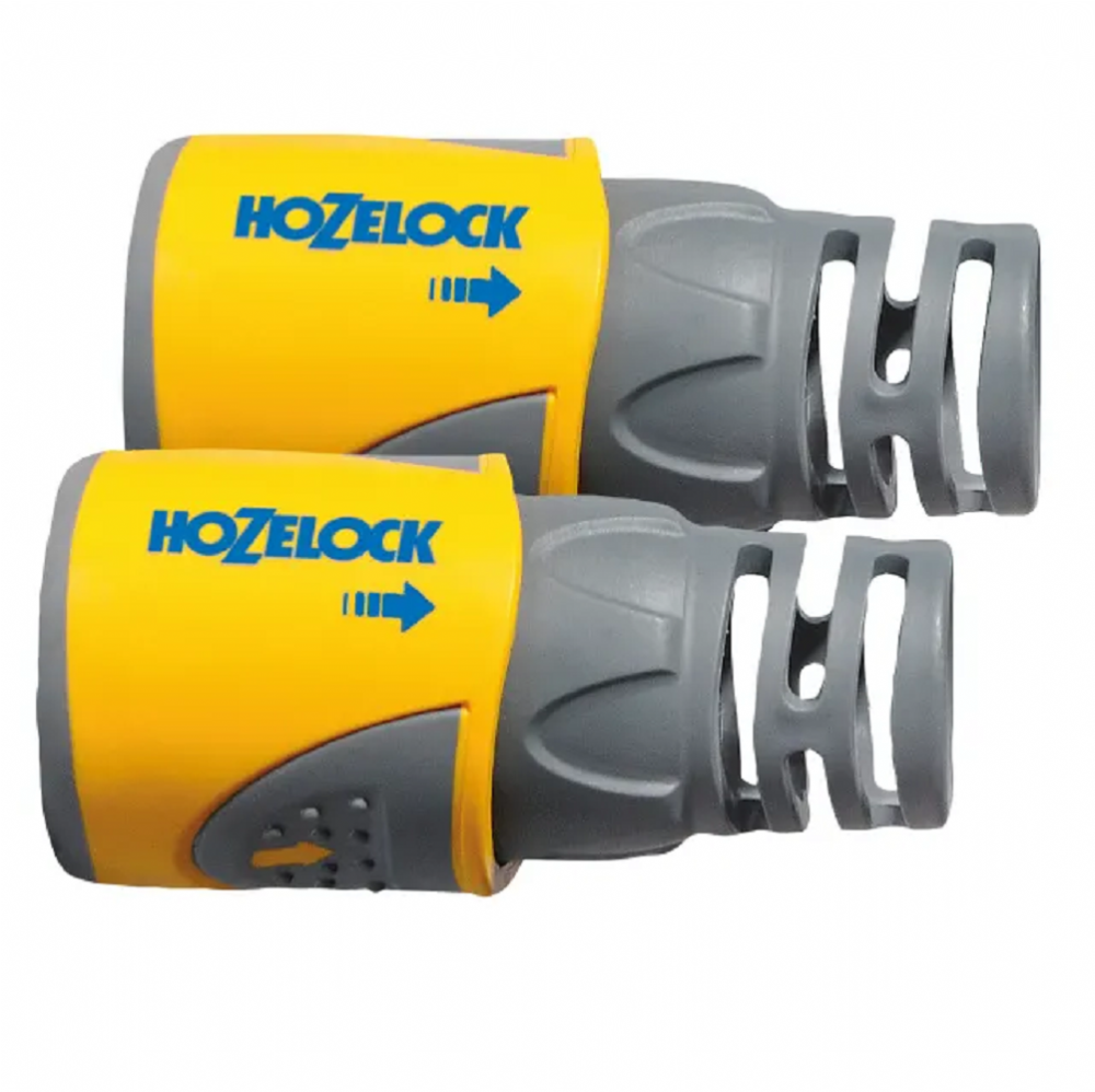"Twin Pack Hozelock 2050 Hose End Connector 12.5mm - 15mm (1/2"" - 5/8"")"